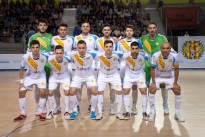 Los jugadores del Catgas Energia de Santa Coloma.