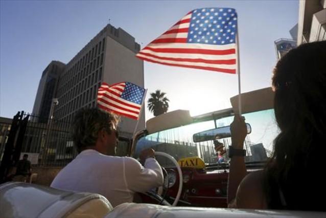 La embajada de EEUU en Cuba, en La Habana.