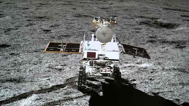 La sonda china Change-4 ha tomado fotos panorámicas en la superficie lunar .