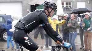 Chris Froome, abans deabandonar en la cinquena etapa del Tour, aquest dimecres.