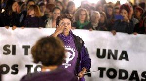 Concentración contra la violencia machista, la semana pasada en Gijón.