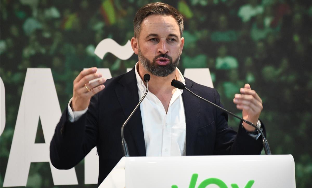 El líder de Vox, Santiago Abascal, en Ceuta el pasado 30 de octubre.