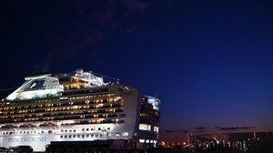 El Diamond Princess en el puerto.