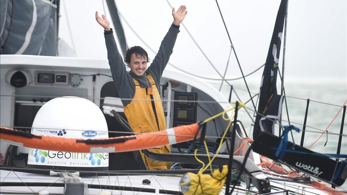 Dídac Costa, primer catalán en completar la vuelta al mundo a vela en solitario