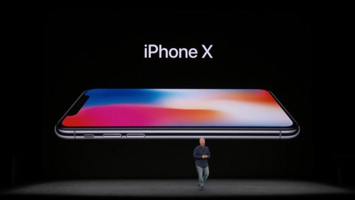 Momento de la presentación del nuevo iPhone X