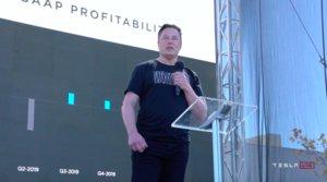 Elon Musk en el 'Battery Day'