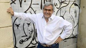 El escritor Ildefonso García-Serena, el pasado septiembre en Barcelona.