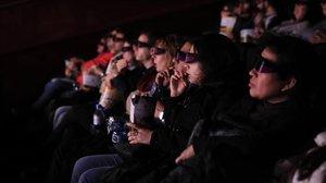 Espectadores en los cines Filmax Gran Vía, en Barcelona, en una imagen del 2019.