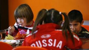 Un grupo de niños de un orfanato ruso en Rostov- on-Don, en diciembre del 2012.