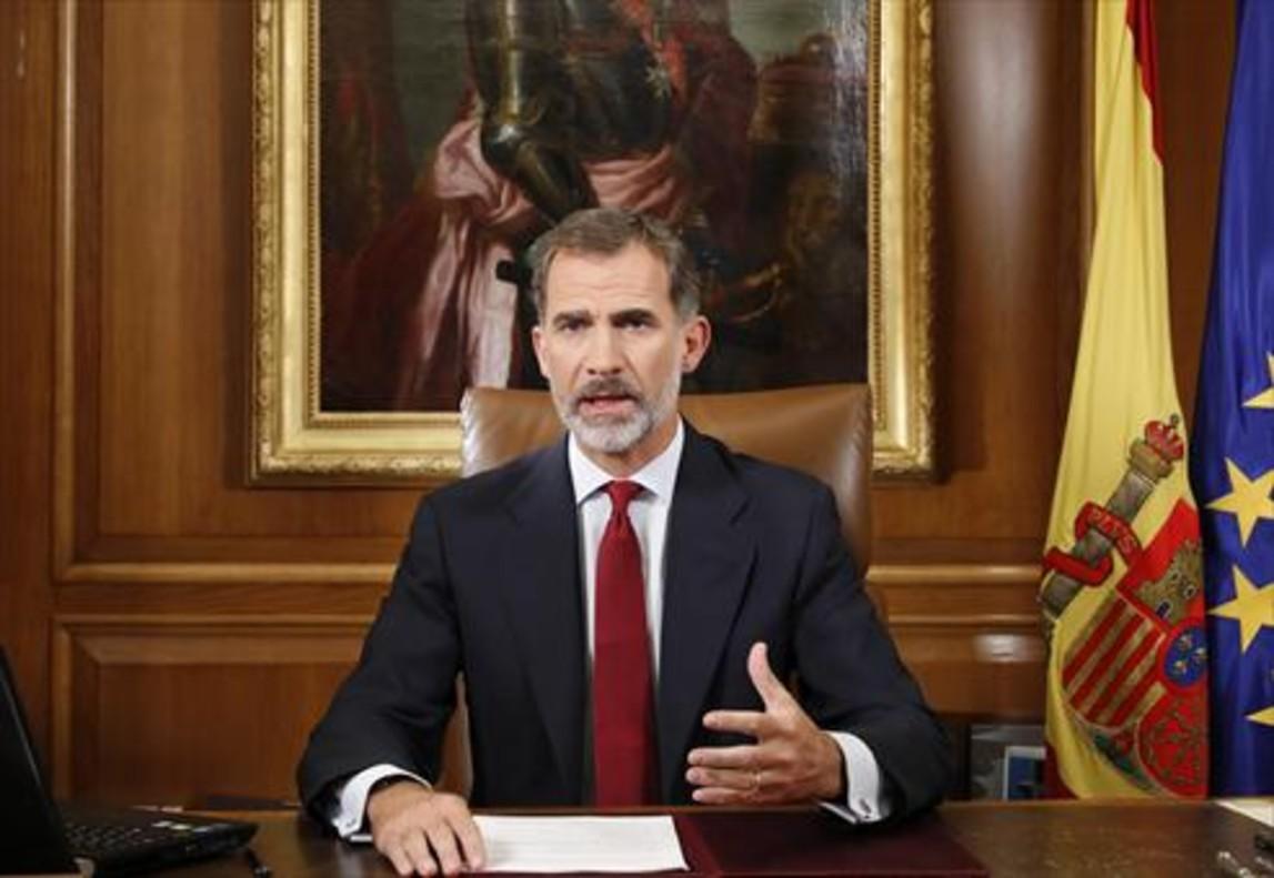 Felipe VI, en un momento de su discurso.