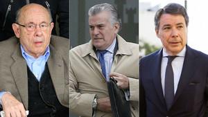 Félix Millet, Luis Bárcenas e Ignacio González.