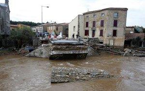 Lluvias e inundaciones en varias regiones de Francia.