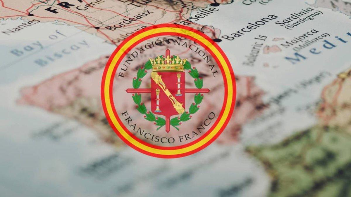 La Fundación Francisco Franco trata de expandirse por Catalunya, como se refleja esta imagen tomada de su página web.