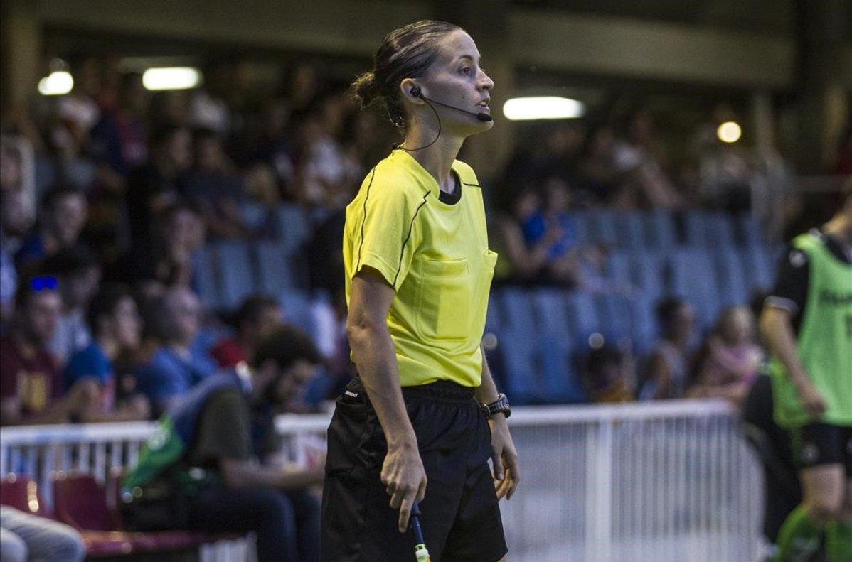Guadalupe Porras Ayuso, en un partido en el Mini.