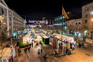 Imagen de archivo de la Feria de Navidad de Mataró.