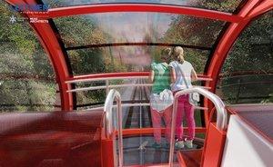 Imagen virtual del interior del futurofunicular del Tibidabo, que gozará de mejores vistas.