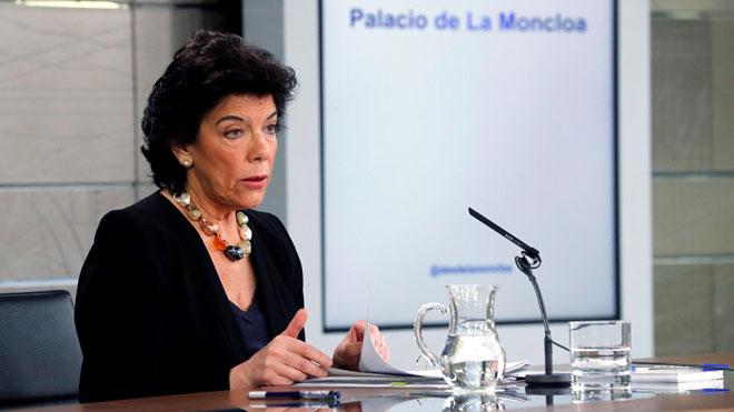 Isabel Celaá, sobre Pablo Iglesias en el Gobierno: Ni afirmamos, ni negamos nada.