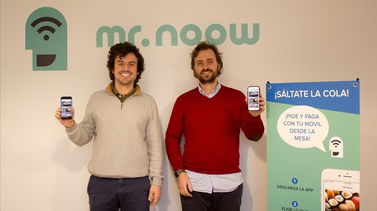 De izquierda a derechaAlejandro Fresneda y Pablo Mas-Bagá, socios fundadores de Mr Noow.