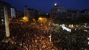 Manifestacion contra el consejo de ministros.