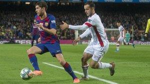 Sergi Roberto es lesiona i no viatja a Nàpols ni a Madrid