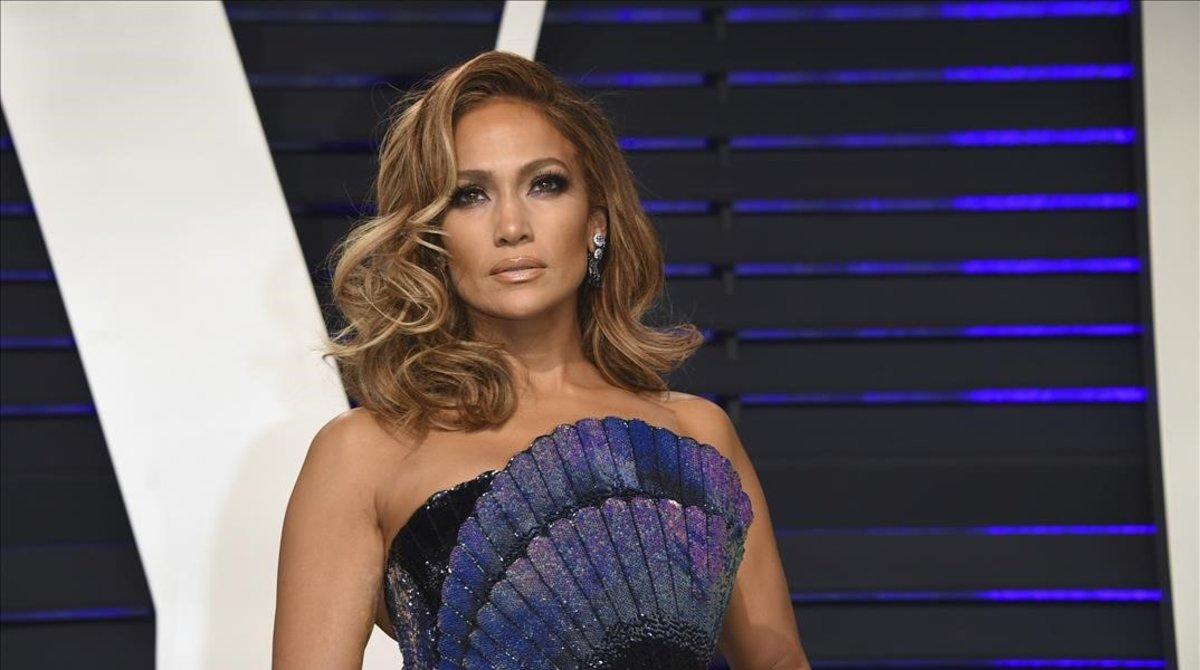 Jennifer Lopez, a su llegada a la fiesta de Vanity Fair, el pasado 24 de febrero.
