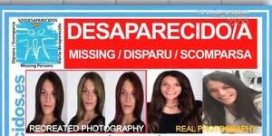 Cartel de SOS Desaparecidos en la búsqueda de Diana Quer.