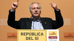 Joan Carretero, en noviembre del 2011, en un acto de campaña de ERC y Reagrupament, en Barcelona.
