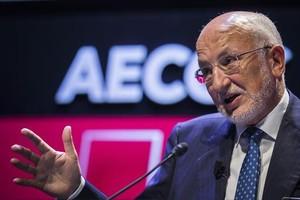 Juan Roig 8El empresario, ayer, en el congreso de Aecoc en València.