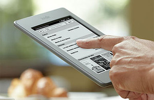 El Kindle Touch, en una foto promocional.