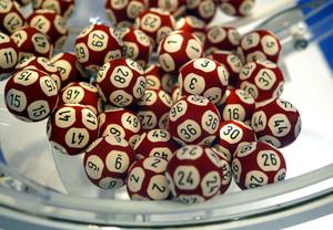 Las bolas del sorteo de Euromillones.