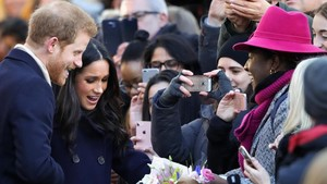 El príncipe Enrique y Megan Markle, este viernes en Nottingham.