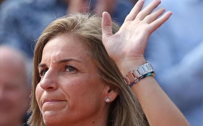 Arantxa Sánchez Vicario, el pasado 9 de junio en París, durante la celebración del Roland Garros.