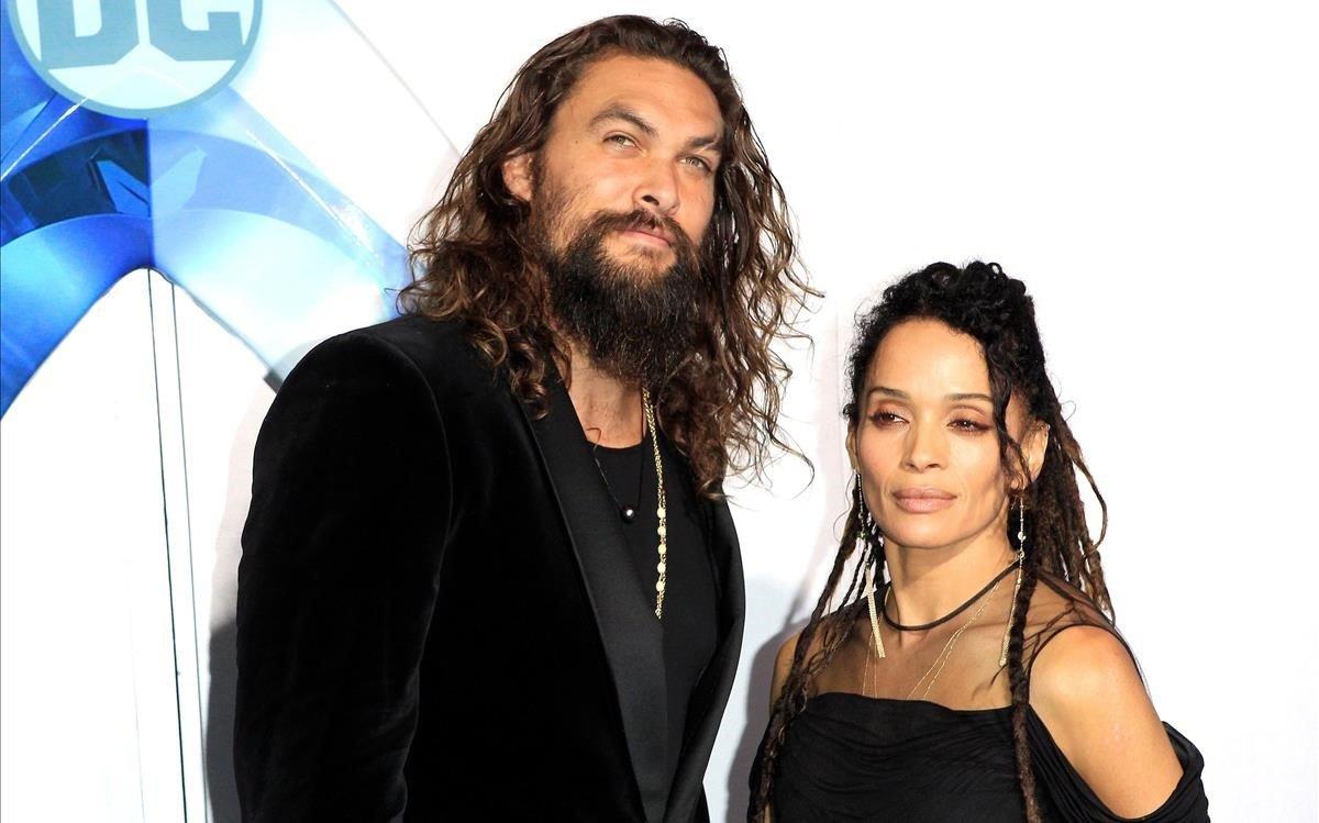 Jason Momoa y su mujer, Lisa Bonet.