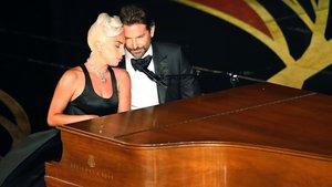 Lady Gaga y Bradley Cooper, en su actuación en la gala de los Oscar.