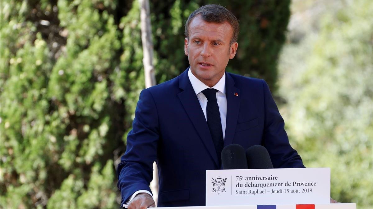 El presidente francés, Emmanuel Macron, en una imagen de archivo.