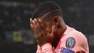Malcom se emociona tras marcar su primer gol con el Barça.