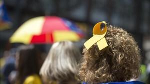 Las mejores fotos de la manifestación por la libertad de los presos independentistas