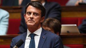 Manuel Valls, en su despedida de la Asamblea Nacional francesa, el pasado 2 de octubre.