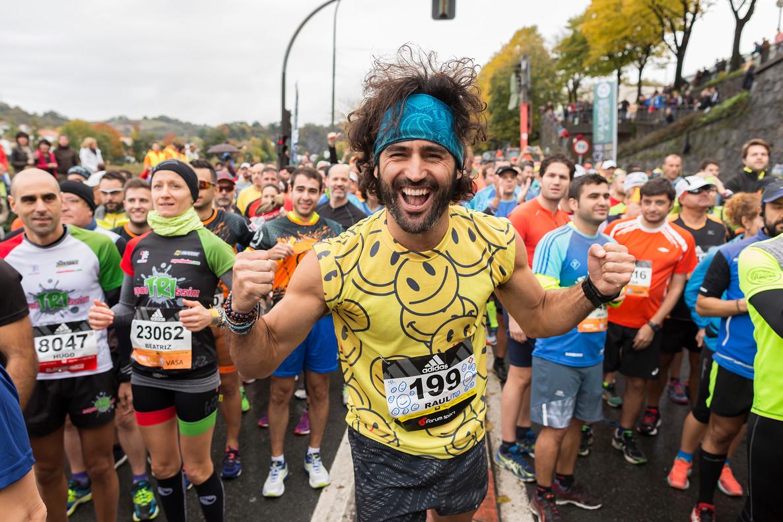 El actor y runner Raúl Gómez, en una de sus carreras en Maraton man, programa del canal #0.
