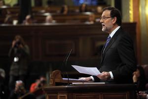 Mariano Rajoy, durante su intervención en el debate del estado de la nación.