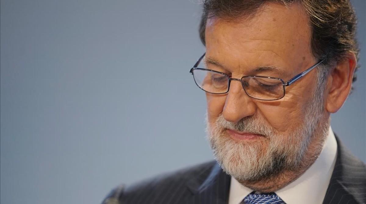 Mariano Rajoy, en la junta directiva nacional del PP en la que se ha puesto fecha al congreso para elegir a su sucesor.