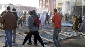 Foto de archivo delos disturbios que se registraron en el Aaiun tras el desmantelamiento del campamentosaharaui de Gdaim Izik.