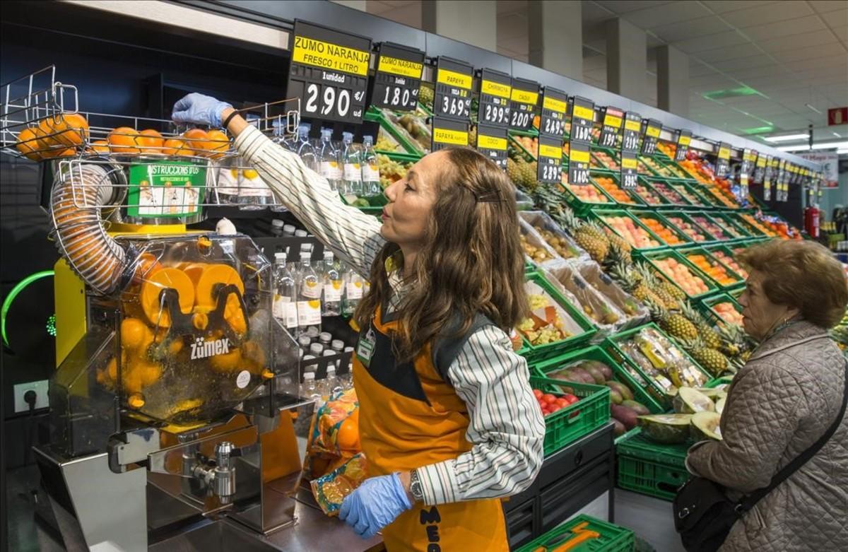 Actividad en un supermercado.