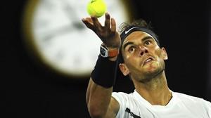 Nadal, en la final del Abierto de Australia ante Federer.