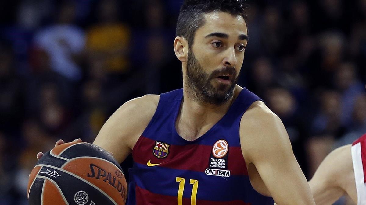Navarro, el año pasado, luciendo el 11 que nadie más llevará en el básquet azulgrana.