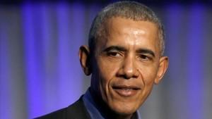 El expresidente de EEUU Barack Obama, en una reciente conferencia sobre el cambio climático.