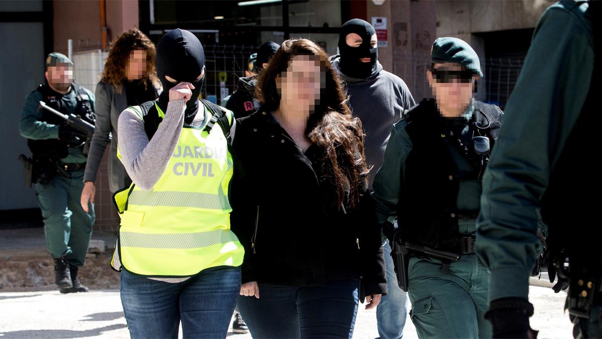 La detenida tenía documentación sobre el acuertalamiento de la Guardia Civil en Barcelona
