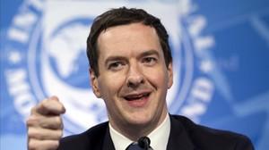 Osborne, en una conferencia de prensa, el 14 de abril del 2016 en Washington.