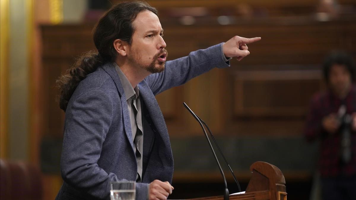 El líder de Unidas Podemos, en el Congreso, en una foto de archivo