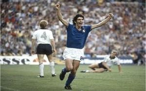 Paolo Rossi, en la final de Italia contra Alemania en el Mundial-82.